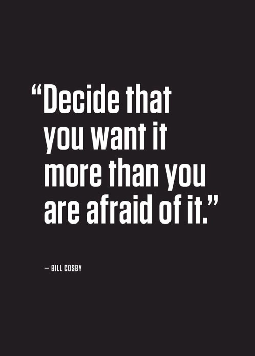 chose purpose not fear