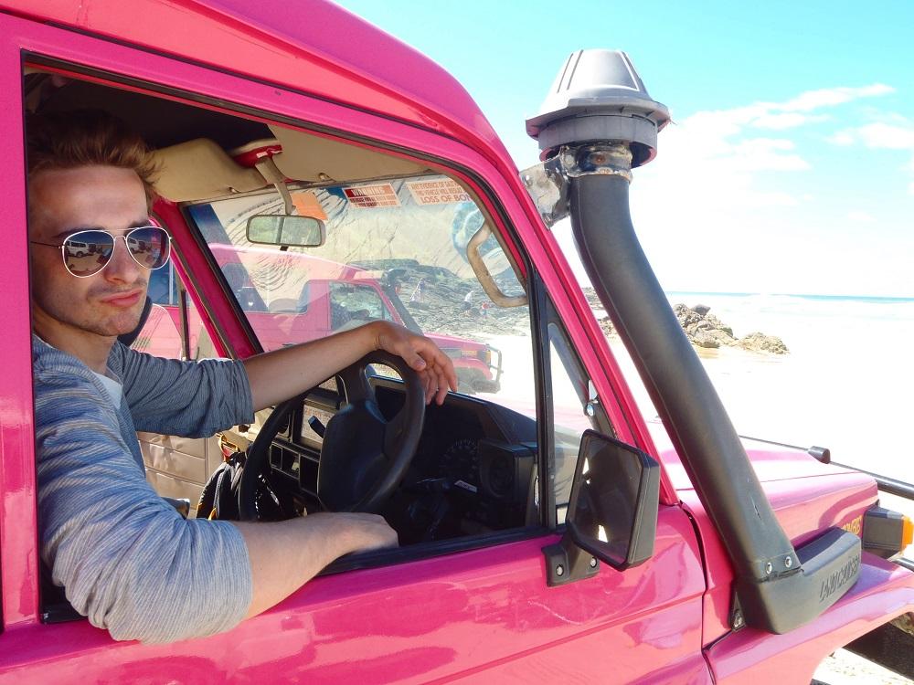 pink truck fraser island popular