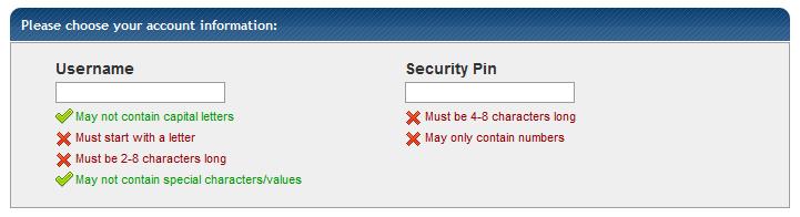 hostgator username password