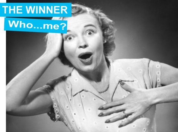 woman wondering about win can't believe she won